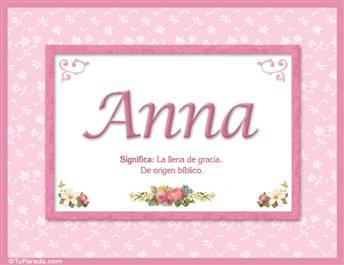 Anna, nombre, significado y origen de nombres