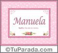 Manuela, nombre, significado y origen de nombres