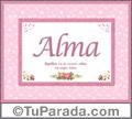 Alma, nombre, significado y origen de nombres