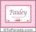 Pauley, nombre, significado y origen de nombres