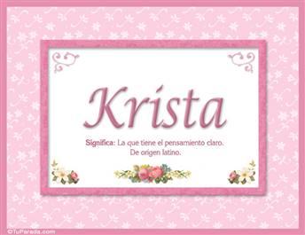 Krista, nombre, significado y origen de nombres