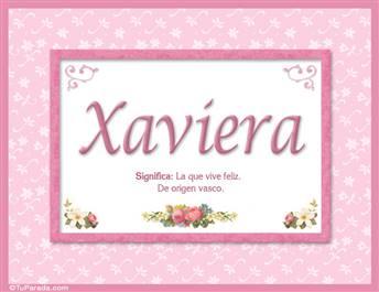 Xaviera, nombre, significado y origen de nombres
