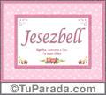 Jesezbell, nombre, significado y origen de nombres