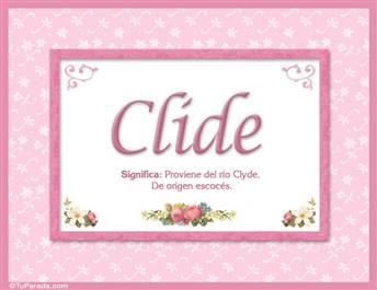 Clide, nombre, significado y origen de nombres