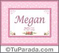 Megan, nombre, significado y origen de nombres
