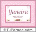 Nombre Tarjeta con imagen de Yaneira para feliz cumpleaños