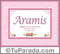 Aramis, nombre, significado y origen de nombres