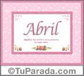 Abril, nombre, significado y origen de nombres