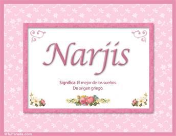 Narjis, nombre, significado y origen de nombres