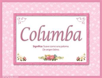 Columba, nombre, significado y origen de nombres