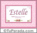 Nombre Tarjeta con imagen de Estelle para feliz cumpleaños