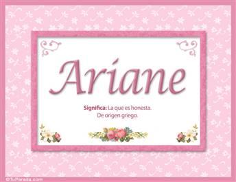 Ariane, nombre, significado y origen de nombres