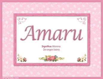 Amaru, significado y origen de nombres