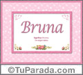 Bruna, significado y origen de nombres