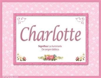 Charlotte, significado y origen de nombres