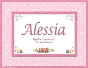 Alessia, significado y origen de nombres