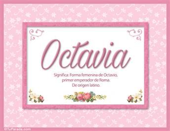Octavia, significado y origen de nombres