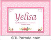 Yelisa, significado y origen de nombres