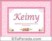 Keimy, significado y origen de nombres