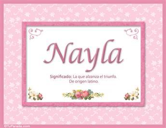 Nayla, significado y origen de nombres