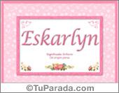Eskarlyn, significado y origen de nombres