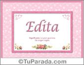 Edita, significado y origen de nombres