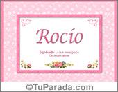 Rocío, nombre, significado y origen de nombres
