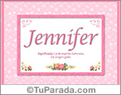 Jennifer, nombre, significado y origen de nombres
