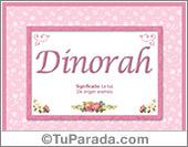 Dinorah, nombre, significado y origen de nombres