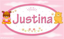 Justina - Con personajes