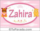 Zahira - Nombre para bebé