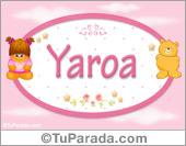 Yaroa - Nombre para bebé