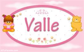 Valle - Nombre para bebé