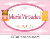 María Virtudes - Con personajes