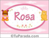 Rosa - Con personajes