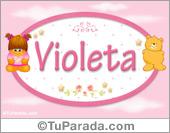 Violeta - Con personajes
