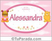 Alessandra - Con personajes
