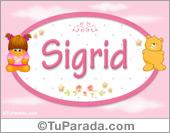 Sigrid - Nombre para bebé