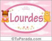 Nombre Nombre para bebé, Lourdes