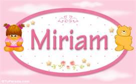Miriam - Nombre para bebé