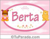 Berta - Nombre para bebé