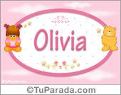 Nombre Nombre para bebé, Olivia.