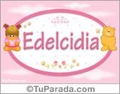 Edelcidia - Nombre para bebé