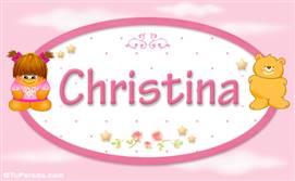 Christina - Nombre para bebé