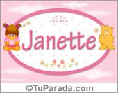 Janette - Nombre para bebé