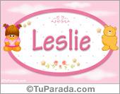 Leslie - Nombre para bebé