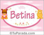 Betina - Nombre para bebé