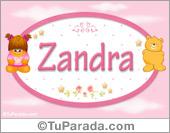 Zandra - Nombre para bebé