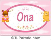 Nombre Nombre para bebé, Ona