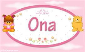 Ona - Nombre para bebé